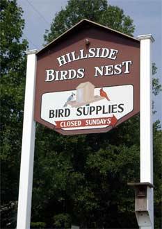 Hillside Birds Nest, Fabric & Books